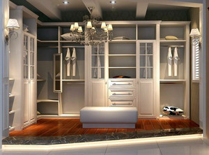 大户型欧式室内步入式衣帽间设计装修效果图