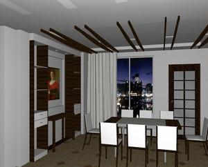 2016唯美大户型现代简约餐厅吊顶装修效果图
