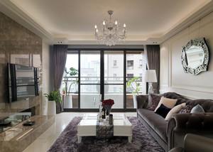 120平米简约时尚客厅窗帘装修效果图