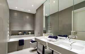 10平米现代简约时尚卫生间设计效果图