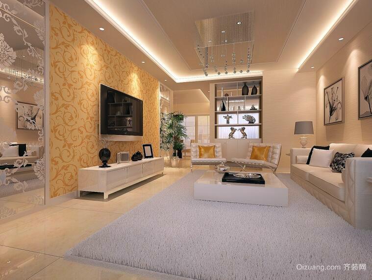 欧式风格别墅型客厅装修效果图