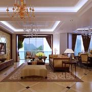简欧风格大户型精致的客厅室内设计效果图