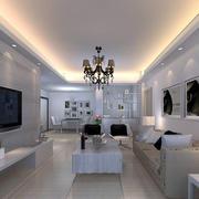 2016现代简约小户型客厅背景墙装修效果图