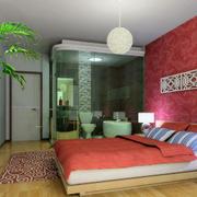 90平米欧式卧室背景墙装修效果图鉴赏