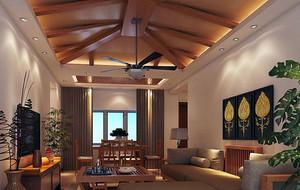 东南亚风格客厅效果图