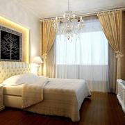 简约卧室窗帘效果图