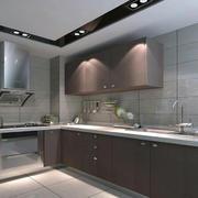 2016别墅型欧式厨房橱柜装修效果图实例