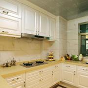 欧式田园风格小厨房装修效果图