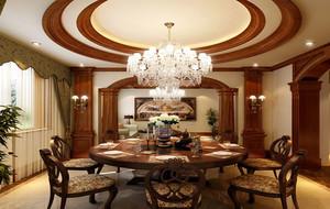 欧式典雅时尚别墅餐厅装修效果图赏析