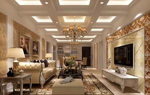 欧式风格精致典雅客厅装修实例