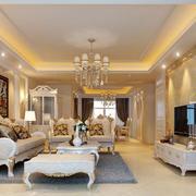 大户型欧式风格精致客厅电视背景墙装修效果图