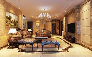 新古典欧式风格客厅装修效果图