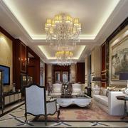 美式风格时尚混搭客厅装修效果图