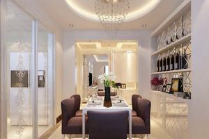 欧式风格完美的别墅型餐厅吊顶装修效果图