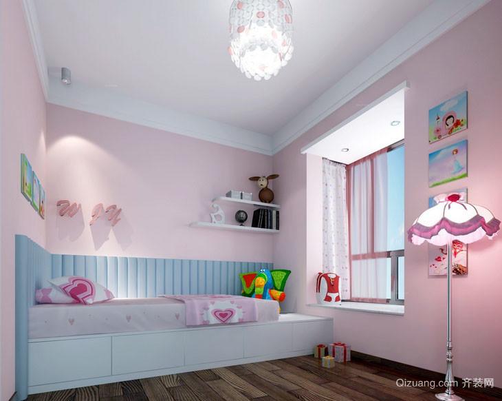 可爱女生自然清新儿童房吊顶装修效果图