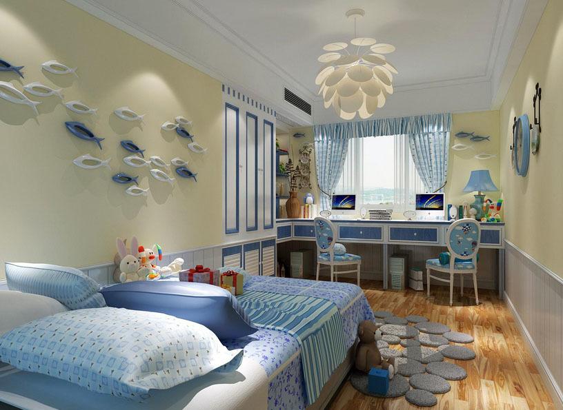 地中海风格轻松时尚儿童房效果图