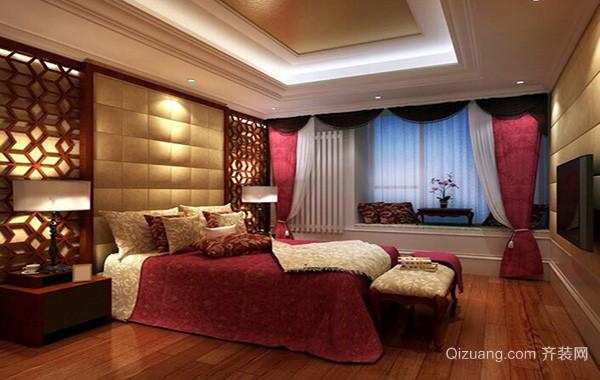 2016欧式别墅家庭卧室背景墙装修效果图
