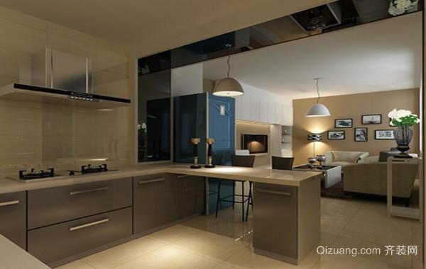 2016别墅型欧式开放式厨房吊顶装修效果图