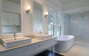 别墅型现代欧式风格卫生间吊顶装修效果图