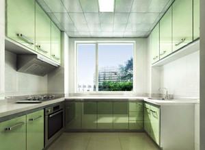 2016欧式大户型厨房不锈钢橱柜装修效果图实例