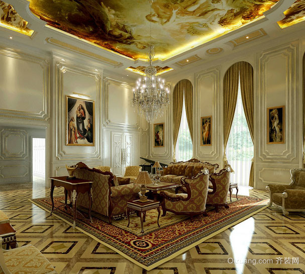 巴洛克辉煌精致客厅装修效果图