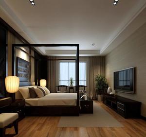 2016大户型中式风格精致家居卧室装修效果图