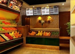 2016大户型水果店室内装修设计效果图欣赏