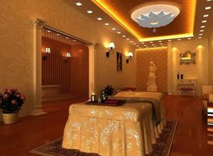 100平米精致的美容院室内设计装修效果图