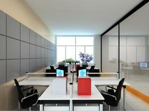 100平米现代简约办公室室内设计装修效果图