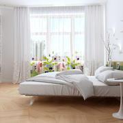 简约卧室窗帘设计