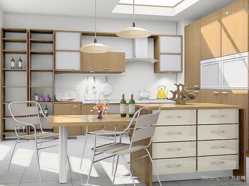 2016简欧风格大户型厨房装修设计效果图