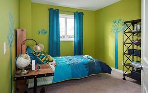 都市动感绿色主题儿童房装修效果图