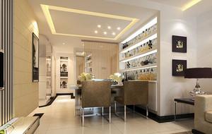 时尚餐厅酒柜设计