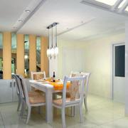 现代简约时尚创意餐厅吊顶装修效果图