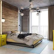 明亮黄色卧室效果图