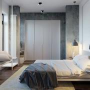 现代极简主义风格卧室飘窗装修效果图