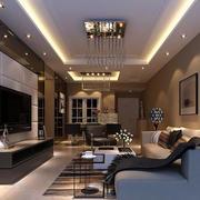 2016欧式别墅型客厅室内装修效果图