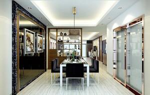 欧式风格别墅型餐厅背景墙装修效果图
