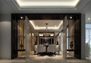 后现代风格别墅型餐厅装修效果图