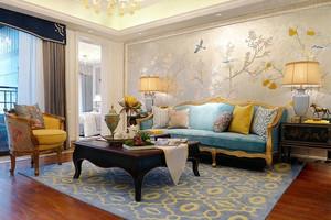 中欧时尚混搭客厅装修效果图