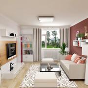 小清新舒适自然小户型客厅装修效果图