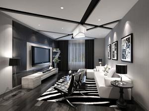 后现代风格简约时尚客厅装修效果图