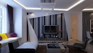 后现代简约时尚客厅电视背景墙装修效果图