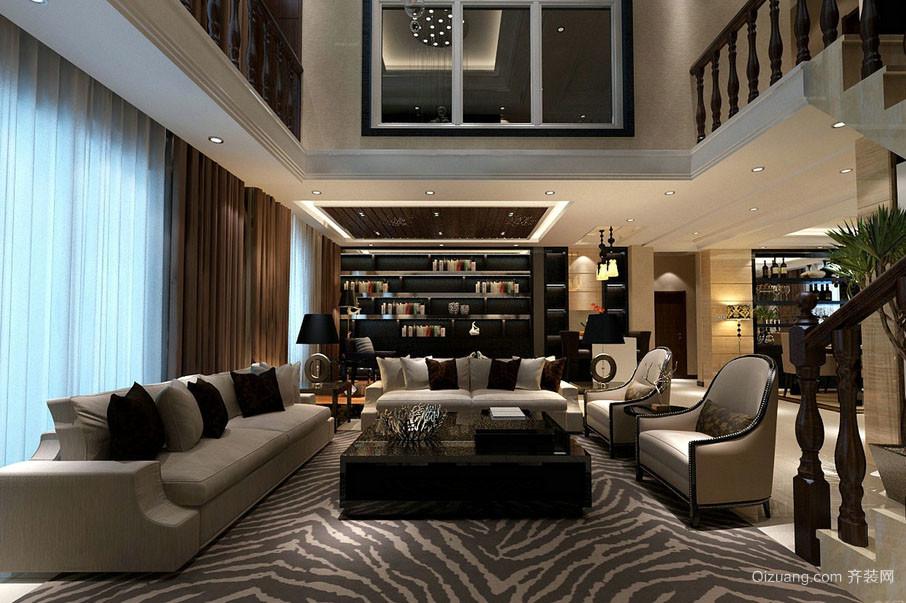 复式小楼现代精致时尚大客厅装修效果图