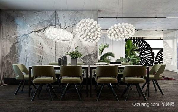 现代简约时尚创意餐厅装修效果图