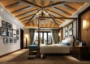 东南亚风格热带风情卧室装修效果图