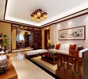2016大户型精致中式客厅装修效果图欣赏