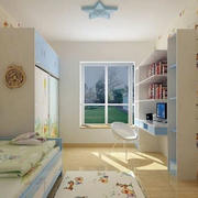 时尚简约儿童房效果图