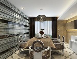 120平米都市精致餐厅室内设计装修效果图