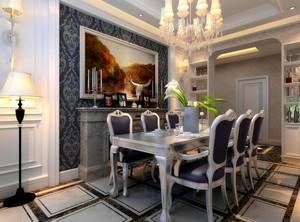 110平米经典的室内餐厅背景墙装修效果图